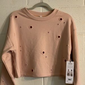 Cropped ALO sweater